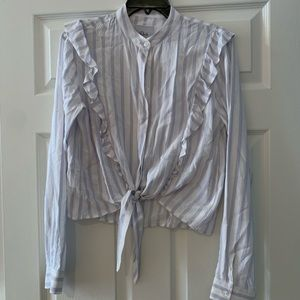 Rails front tie stripe shirt sz S